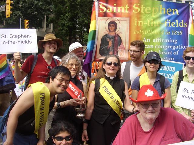 Some of the St Stephen's gang at World Pride, 2014