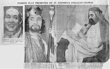 Note: In the centre is Earle Grey, costumed for a performance at St. Stephen's.
