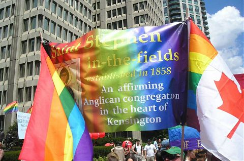 Pride Day 2012: St Stephens banner